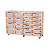 Cubby Tray Storage: 4 Tier with 20 Trays