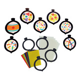STAINED GLASS BAUBLES PK30