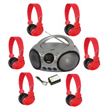 COLOURED STEREO LISTENING SET BLUE