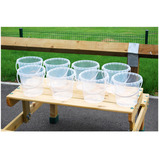 CLEAR BUCKETS SET OF 8