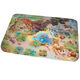 Dinosaur Ultra Soft Fleecy Large Mat