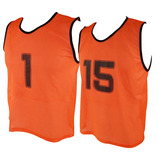 MESH 1-15 TRAINING VEST MED ORANGE