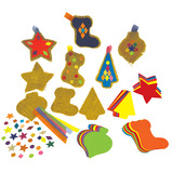 HESSIAN FESTIVE DECORATIONS PK30