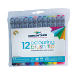 TC BRUSH TIP FELT PENS PK 36 ASST