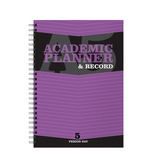 A5 PLANNER 5 PERIOD PURPLE 2017/18