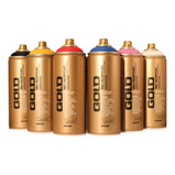 MONTANA GOLD SPRAY PAINT METALIC PK6