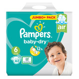 PAMPERS BABY DRY SZ 6 JUMBO+ BOX 62