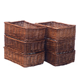 Large Shallow Wicker Baskets