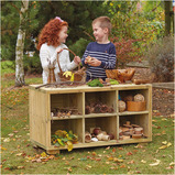 OUTDOOR WOODEN SHELF STORAGE W100 X H55CM