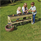 OUTDOOR MESSY TABLE WITH RUBBER TRAYS