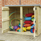 OUTDOOR WOODEN LOCKABLE STORAGE CUBBY