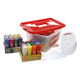 Playcolor Mural Paint Stick & Mask Classpack