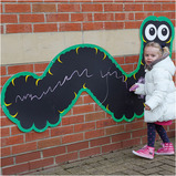 Giant Chalkboard Caterpillar