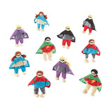 SMALL WORLD SUPERHERO FIGURES 10PK