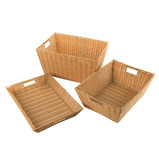 Faux Plastic Wicker Baskets