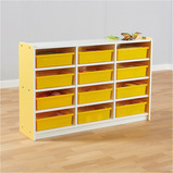 Valencia 12 Compartment Cabinet Yellow