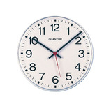 ANAOLGUE CLOCK 42CM DIA WHITE