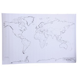 Giant Blank World Map