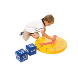 Softplay Tell The Time Clock with 4 Dice