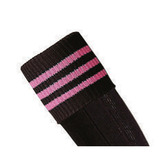 Prostar Mercury 3-Stripe Socks - Black/Pink