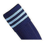 Prostar Mercury 3-Stripe Socks - Navy/Sky