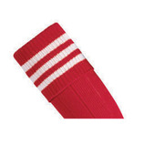 Prostar Mercury 3-Stripe Socks - Scarlet/White