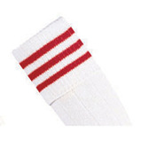 Prostar Mercury 3-Stripe Socks - White/Scarlet