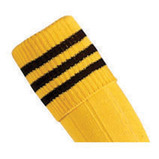 Prostar Mercury 3-Stripe Socks - Yellow/Black