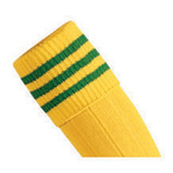 Prostar Mercury 3-Stripe Socks - Yellow/Emerald