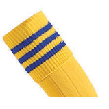 Prostar Mercury 3-Stripe Socks - Yellow/Royal