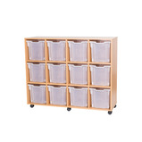 Mobile 12 Jumbo Tray Storage