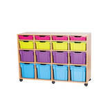 Mobile Assorted 16 Tray Storage Unit - Without Trays