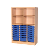 OPEN TALL TRAY/SHELF UNIT 1800MM OAK/PINK
