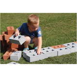 RED BUILDING BRICKS 50PCS