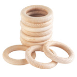Wooden Rings and Ring Stand Base
