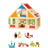 COMPLETE WOODEN DOLLS HOUSE