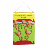 5 LITTLE MONKEYS WALL CHART