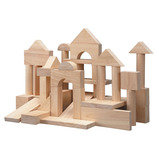 50 WOODEN UNIT BLOCKS