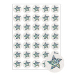 24MM METALLIC STARS STICKERS (140)
