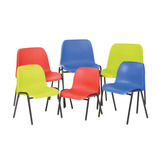 AFFINITY POLY CHAIR 310MM RED