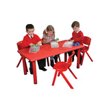 Children's Rectangular Red Table