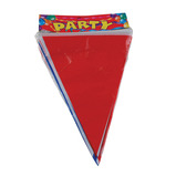 RED WHITE BLUE PLASTIC BUNTING 10M