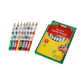 CRAYON MINI KIDS JUMBO PENCILS X8
