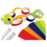 PAPER CHAIN PEEL/STICK METALLIC x100