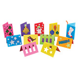 CHRISTMAS CUTOUT CARDS PK54