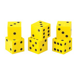 DICE QUIET 2.5CM DOT DICE PK 8