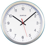 SILVER CASED CLOCK 300MM QUARTZ