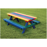 MARMAX JUNIOR PICNIC BENCH RAINBOW
