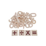 WOODEN NUMBERS PK 30