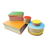 Gummed Paper Squares & Circles Assortment